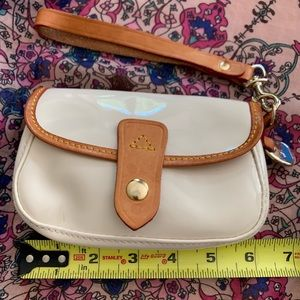 Cute cream Dooney and Bourke small vinyl wristlet